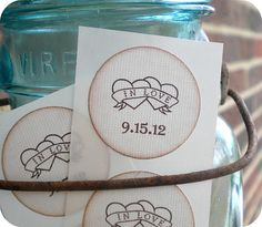 Personalized Wedding Stickers/ Envelope by LittlePaperFarmhouse, $13.75