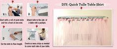 DIY: Quick Tulle Table Skirt