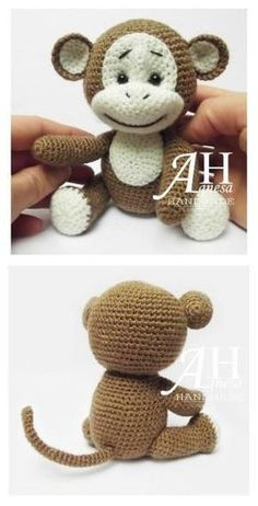 Cute Monkey Amigurumi Free Crochet Pattern by Lois Holmes