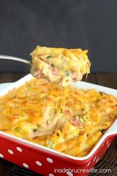 CONVERT TO GF--by using gf noodles, bacon, ranch etc. Chicken Bacon Ranch Pasta Bake - a delicious and cheesy pasta bake that will satisfy everyone at the dinner table I Love Food, Good Food, Yummy Food, Tasty, Pasta Dishes, Food Dishes, Main Dishes, Pasta Food, Chicken Bacon Ranch Pasta