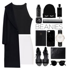 """Untitled #135"" by imelda-marcella-chandra ❤ liked on Polyvore featuring Helmut Lang, MaxMara, Prada, Daniel Wellington, Casetify, GHD, Status Anxiety, Agonist, Living Proof and black"