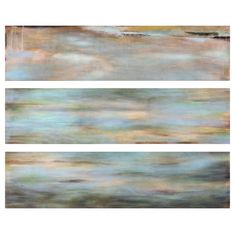 Lend a touch of artful appeal to your living room or master suite with this serene wall decor, showcasing an abstract motif in a cool palette.  ...