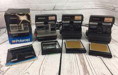 Lot of 3 - (1) Polaroid Sun 600 LMS Instant Film & (2) One Step Close Up Camera #Polaroid