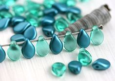 Hey, I found this really awesome Etsy listing at https://www.etsy.com/listing/271262730/teal-beads-mix-pip-beads-czech-glass