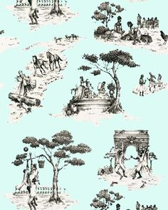 As an African American living in Harlem, I have always been intrigued and inspired by the historical narrative of the decorative arts, especially traditional French toile with its pastoral motifs from the late 1700s. I'm entertained by the stories these patterns tell and the questions they sometimes raise.  But after searching for many years for the perfect toile for my own home, I decided that it quite simply didn't exist. My Harlem Toile wallpaper (which lampoons some of thestereotyp...