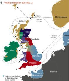 Anglo-Scandinavian Settlement - Jórvík, Danelaw - Viking -  England - Anglo-Saxon Settlement Map - Yorkshire