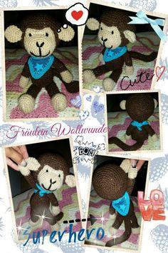 Affe * chimpanse * junge * monkey £ boy * gehäkelt * crochet  https://www.facebook.com/fraeuleinwollwunder