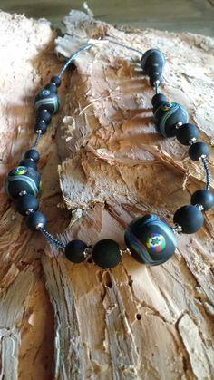 Venetian matte beads with millifiore.