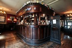 The Old Bell, Fleet Street. pub wainscoting bar room