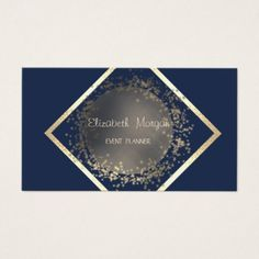 Elegant Sophisticated Professional Geometric Business Card - event gifts diy cyo events
