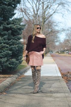 How To Wear A Pink Leather Mini Skirt | Style in a Small Town