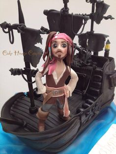 Captain Jack and the Black Pearl Cake - #Pirates of the #Caribbean