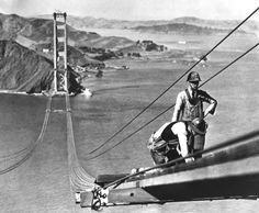 Así se construyó el Golden Gate, el puente más famoso del mundo.