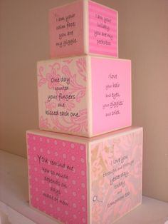 NURSERY BLOCKS Shabby Chic Nursery Decor For Sale by ShugabeeLane. $69.00, via Etsy.
