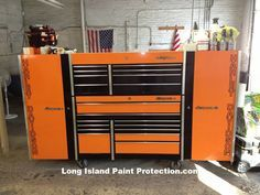 Snap-On-Toolbox Harley Davidson Orange and black
