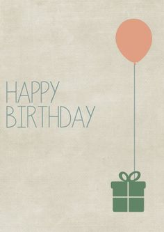 Kostenlose Geburtstagskarte zum Herunterladen und Ausdrucken