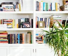 When decorating space is short, put more thought into what's on the shelves   -- Ask Estee: Bookshelf Styling