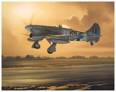 Hawker Fairbanks Tempest by Neil Hipkiss Aviation Artist - depicts Hawker Tempest Mk V of Flt Lt D C Fairbanks, No. 274 Sqn, based at Volkel during November Ww2 Aircraft, Military Aircraft, Hawker Tempest, Military Drawings, Aircraft Painting, Airplane Art, Aircraft Pictures, Nose Art, Aviation Art