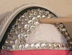 #ideas #zapatilla pegar diamantes
