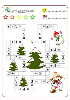 English Worksheets For Kids, English Lessons For Kids, Montessori Math, Math Literacy, Christmas Activities For Kids, Math For Kids, Educational Activities, Preschool Activities, Teaching Kids