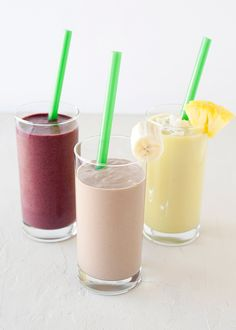Breakfast Smoothies:: Pina Colada Smoothie: 1 cup Almond Breeze cup diced mango cup pineapple of an avocado frozen banana 2 Tablespoons flaked coconut Juice Smoothie, Smoothie Drinks, Smoothie Recipes, Boba Smoothie, Blender Recipes, Drink Recipes, Breakfast Smoothies, Healthy Smoothies, Healthy Drinks