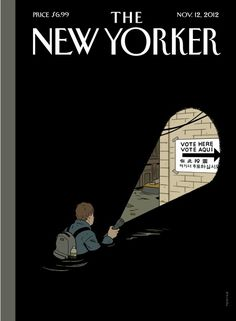The New Yorker (12 de noviembre de 2012) cubierta por Adrian Tomine
