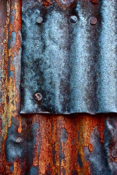 Abstract Fine Art Photography Industrial Rust, Blue Patch 8x12. $25.00, via Etsy.