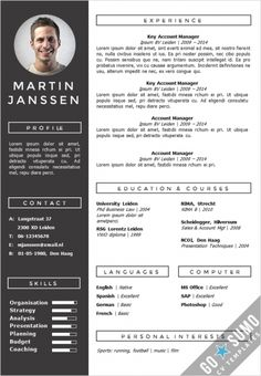 Get your cv noticed. Creative cv template in Word and PowerPoint, fully…
