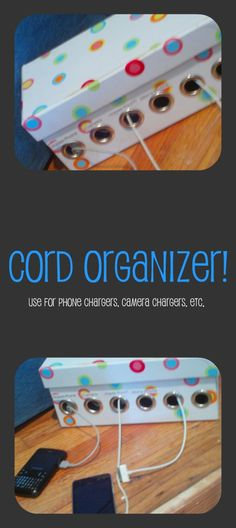 dont want a tangles mess? heres a way to keep everything organized