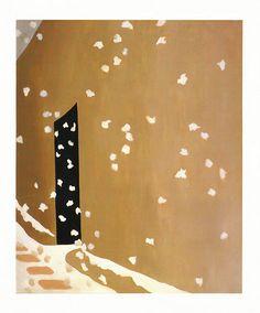 Georgia O'Keeffe - Black Door with Snow, 1955