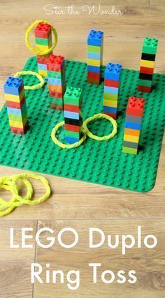 LEGO Duplo Ring Toss Ring throwing with Duplo. Good idea for rainy days more LEGO Duplo Ring Toss Ring throwing with Duplo. Good idea for rainy days Ninjago Party, Lego Birthday Party, Lego Ninjago, Birthday Games, Birthday Boys, Birthday Crafts, Superhero Party, 5th Birthday Ideas For Boys, Ninjago Games