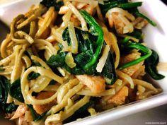 Healthy Recipe: Salmon Spinach Noodles