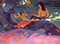 "Paul Gauguin ""Al mare"" ""Fatata te miti"" (1892) 67.9 × 91.5 cm National Gallery of Art Washington, D.C."
