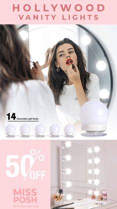 Vanity Light Bulbs, Led Vanity Lights, Mirror With Lights, Vanity Lighting, Dimmable Light Bulbs, Beauty Corner, Professional Makeup Artist, Hollywood Fashion, Natural Makeup