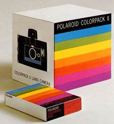 vintage 1960s packaging from Polaroid.