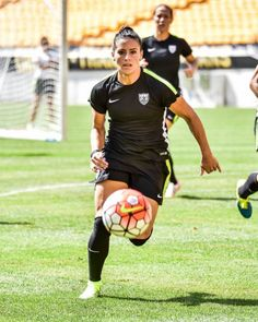 Ali Krieger, Heinz Field training, 2015 Victory Tour. (Jay Pike/AliKrieger. com)