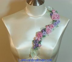 I ❤ ribbonwork . . . French Ribbon Work Garland By lambsandivydesigns.com