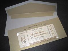 Concert ticket save the dates by The Inviting Pear