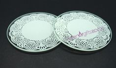 Can you think of a more perfect place for lace than a wedding? Not just for gowns and veils anymore, lace brings its delicate beauty to these impressive glass coaster wedding favors, giving guests a pretty, practical reminder of your elegant event.