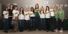 Oakland A's Player Wives and Girlfriends at 13th Annual A's MUG Root Beer Float Day on June 20, 2012 (Jeff Bennett/Oakland Athletics)