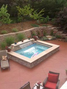 Fabulous Small Pool Design Ideas For Your Small Yard Small Swimming Pools, Swimming Pools Backyard, Swimming Pool Designs, Pool Landscaping, Swimming Ponds, Pool Spa, Ideas De Piscina, Piscina Spa, Hot Tub Backyard