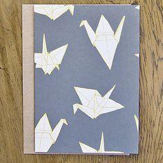 Set of six origami crane greetings cards origami cranes and origami crane greetings card by sparrow wolf notonthehighstreet m4hsunfo