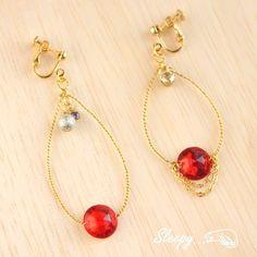 Earrings ヴィンテージコネクタフープイヤリング ピアス ハンドメイド インテリア 雑貨 Handmade ¥730yen 〆10月17日
