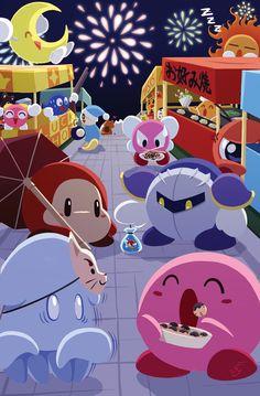 Kirby Matsuri by Fychan.deviantart.com on @deviantART