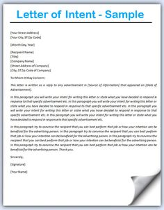 Letter of intent template free word templates letter of view source image spiritdancerdesigns