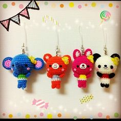 Amigurumi animal keychain #crochet