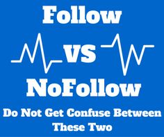 People often get confused between follow and no follow links in SEO.  So here are the best possible differences between the two different terms.  https://goo.gl/RetxD1