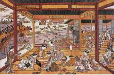 Woodblock printing in Japan - Wikipedia Woodblock Print, Wood Blocks, Japanese Art, Impressionism, Art Decor, Fine Art, Sculpture, Architecture, House Styles