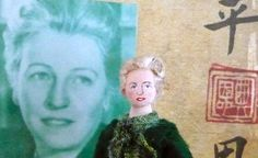 Pearl S. Buck Doll Miniature Author and Writer Art Collectible