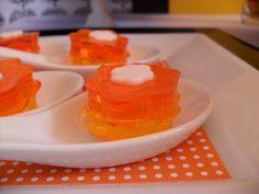 Candy corn jello #halloween #orange #yellow #party #dessert